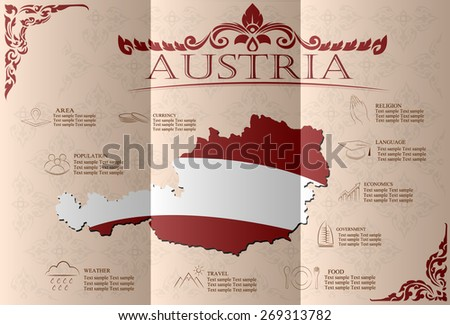 Austria infographics, statistical data, sights. Vector illustration. - stock vector