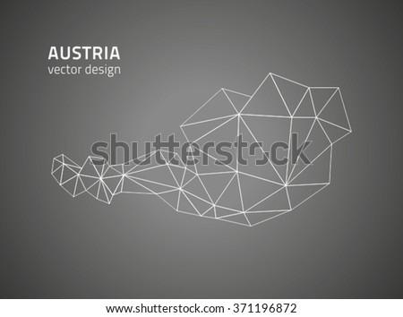 Austria map - stock vector