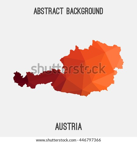 Austria map in geometric polygonal,mosaic style.Abstract tessellation,modern design background. Vector illustration EPS8 - stock vector
