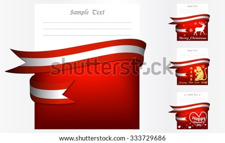 Austria 's greeting card in big 3 festivals and their template vectors in eps10 - stock vector