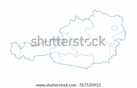 Austria world map country outline graphic stock vector hd royalty austria world map country outline in graphic design concept gumiabroncs Choice Image