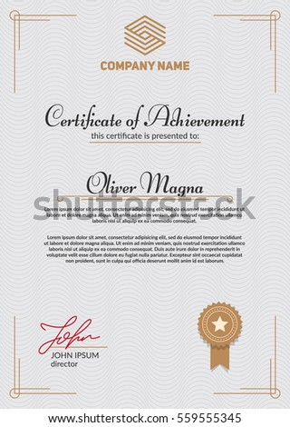 Authentic certificate template cool elegant design stock vector authentic certificate template cool elegant design stock vector 559555345 shutterstock yadclub Images