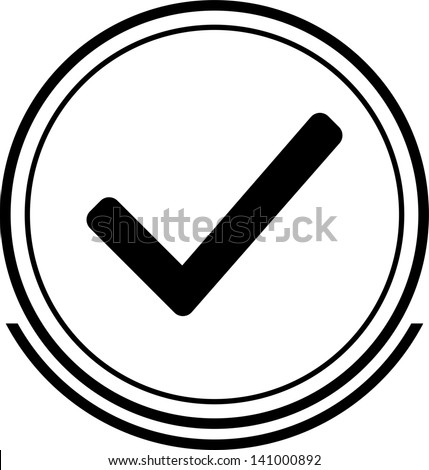 Authorize button black - stock vector