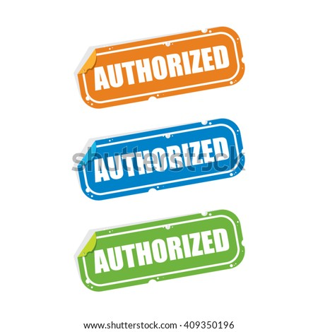 Authorized Sticker Labels - stock vector