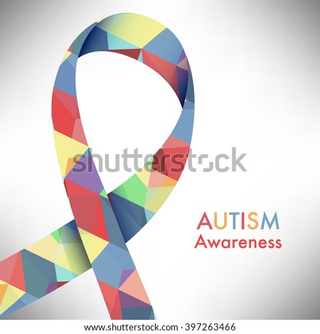 Autism awareness icon abstract illustration vector eps10 - stock vector