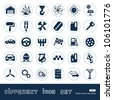 Auto and energy web icons set. Hand drawn sketch illustration isolated on white background - stock vector