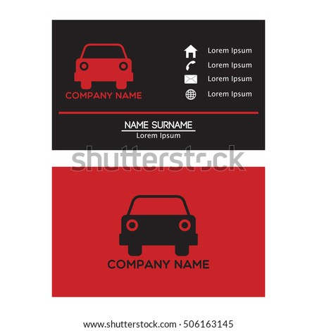 Auto car business card design template stock photo photo vector auto car business card design template for your business colourmoves