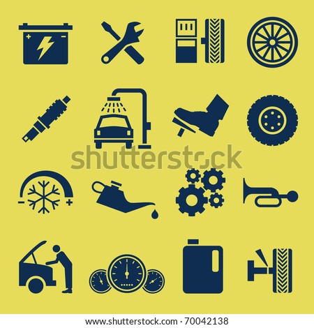 Auto Car Repair Service Icon Symbol - stock vector