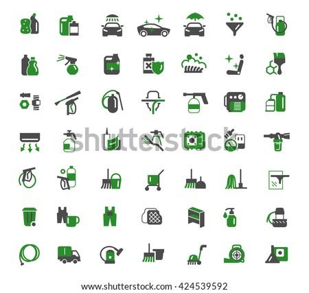 auto chemistry icons - stock vector