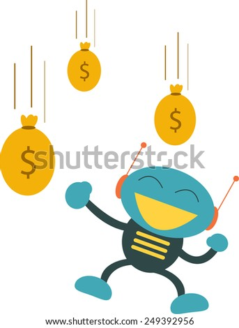 Auto Earning - stock vector