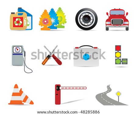 Auto icons. Vector illustration - stock vector