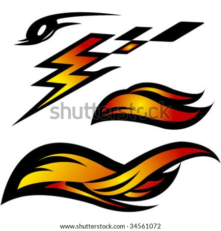 auto moto abstract vector icons - stock vector
