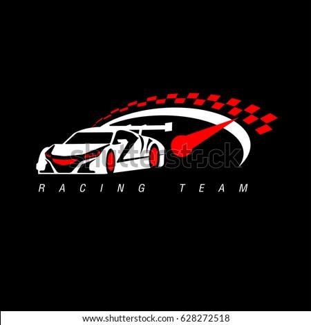 Auto racing logos