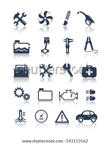Auto service icons - stock vector