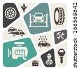 Auto service vector illustration - stock