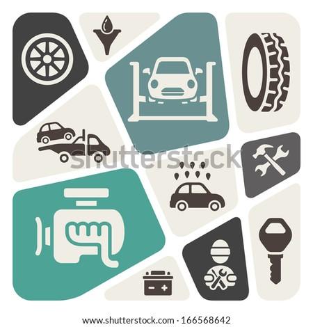 Auto service vector illustration - stock vector
