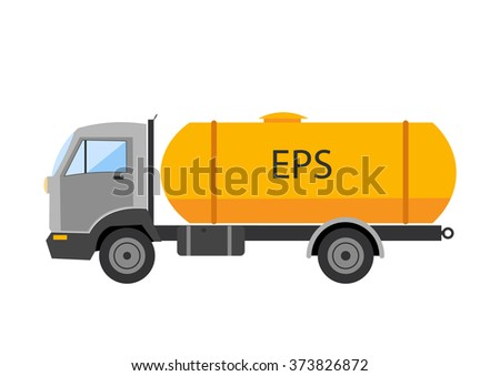 Auto truck vector Tipping lorry vector illustration isolated on a white background