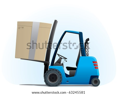 autoloader with a big box - stock vector