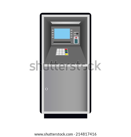 Automated teller machine, ATM vector illustration - stock vector