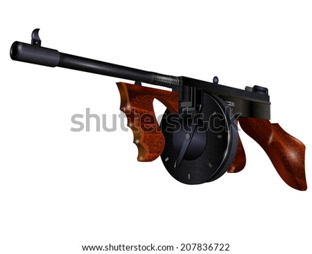 automatic weapon - stock vector