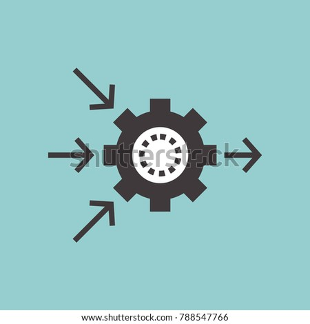 Automation technology process vector line icons