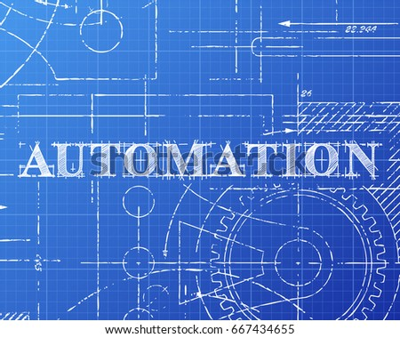 Automation text hand drawn on blueprint vectores en stock 667434655 automation text hand drawn on blueprint vectores en stock 667434655 shutterstock malvernweather Gallery