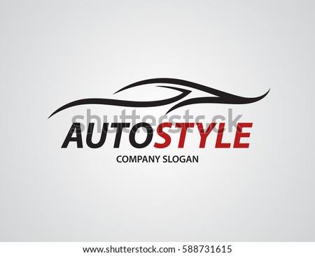 automotive car logo design abstract sports stock vector royalty
