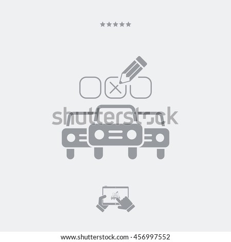 Automotive options - Minimal vector icon - stock vector