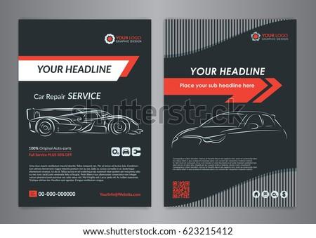 automobile brochure design - automotive repair business layout templates automobile
