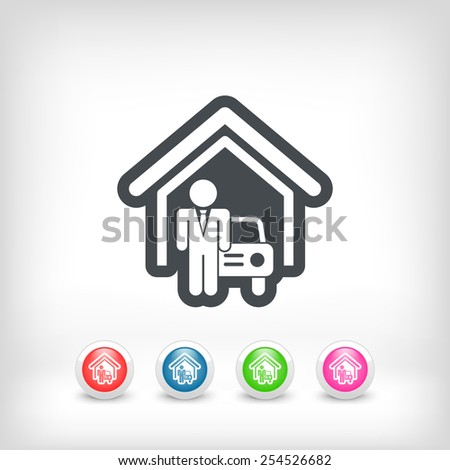 Automotive showroom - stock vector