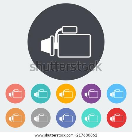 Automotive starter. Single flat icon on the circle. Vector illustration. - stock vector