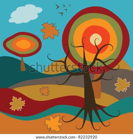 autumn - stock vector