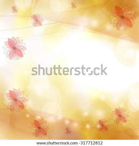 Autumn abstract background - stock vector