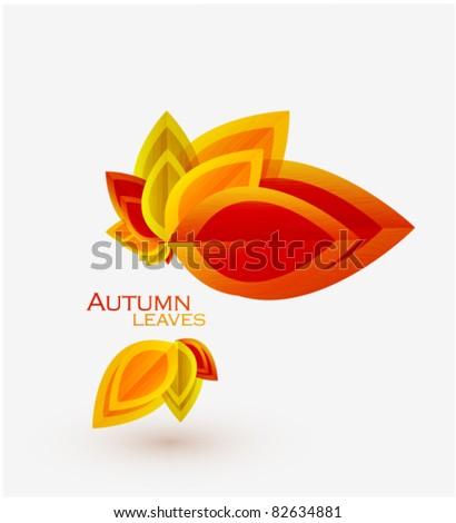 Autumn abstract vector background - stock vector