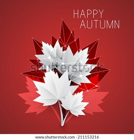 autumn background - abstract vector illustration - stock vector