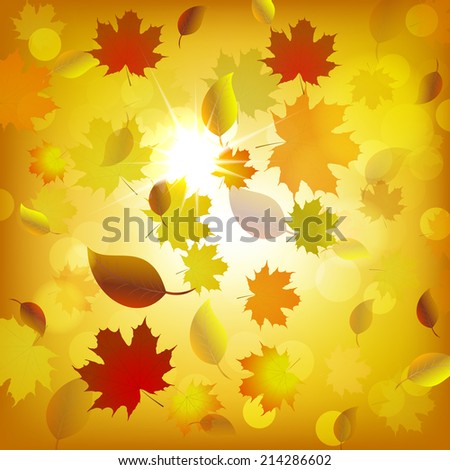 Autumn background, design with place for your content/vector illustration