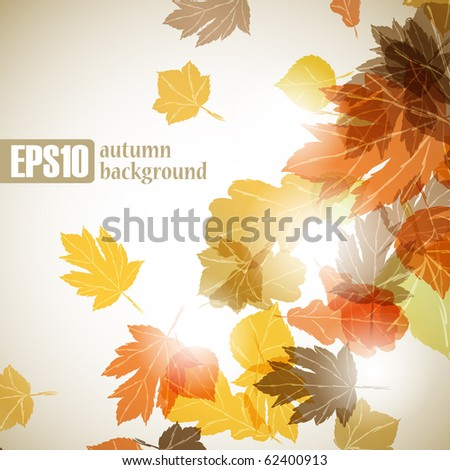 autumn background, eps10 - stock vector
