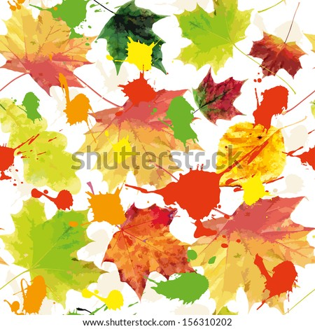 Autumn background texture.Seamless pattern.