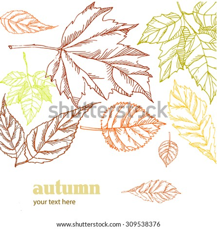 Autumn background. Vector illustration - stock vector