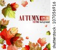 Autumn background. Vector illustration. Eps 10 - stock photo
