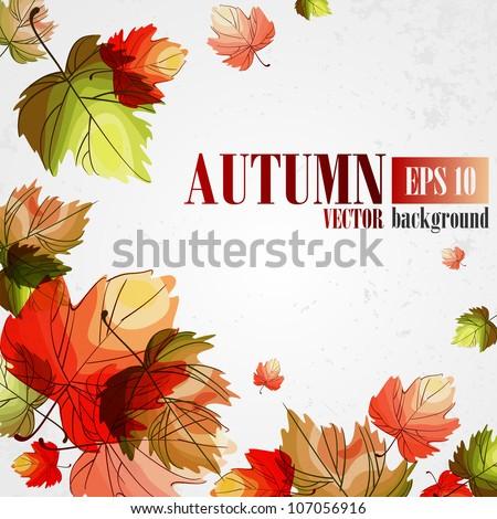 Autumn background. Vector illustration. Eps 10 - stock vector