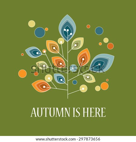 Autumn background with abstract shapes. Foliage colors of fall. Eps10 vector illustration. - stock vector