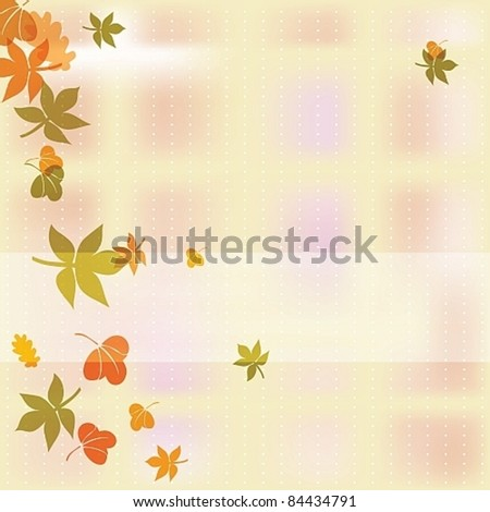 Autumn background with colorful leafs, eps10 vector illustration