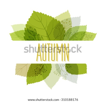 Autumn background with leaves. Vector illustration Eps10. - stock vector