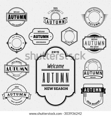 Autumn badges logos and labels can be used to design packages of goods during autumn sales - stock vector
