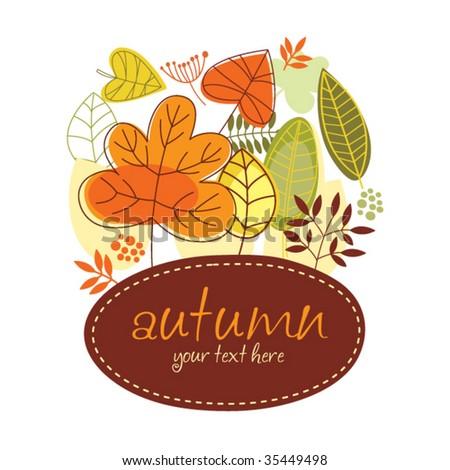 autumn banner - stock vector