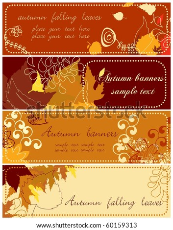 Autumn banners collection 2 - stock vector