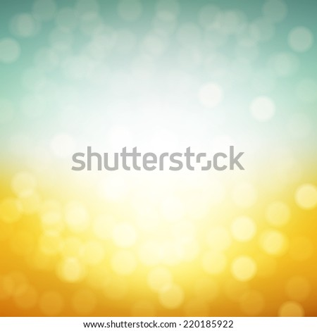 Autumn Bokeh Poster With Gradient Mesh, Vector Illustration - stock vector
