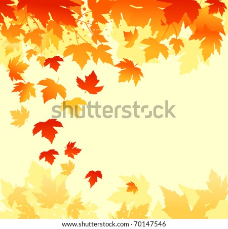 Autumn colorful leaves background for thanksgiving design. Jpeg version also available in gallery - stock vector