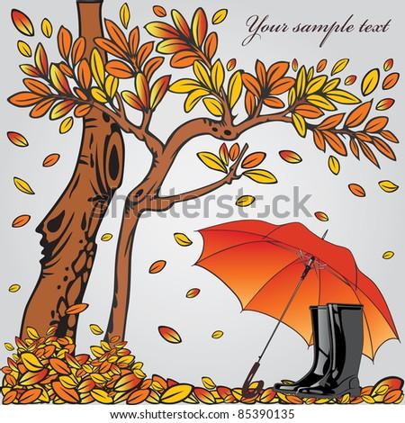 Autumn composition. Vector illustration eps.10. - stock vector